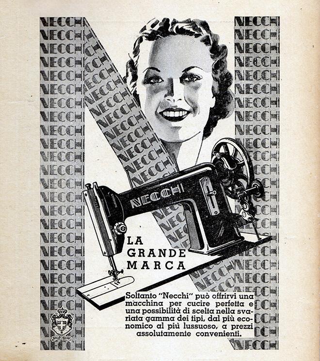 Necchi, pubblicità del 1932, Collezione IUCU