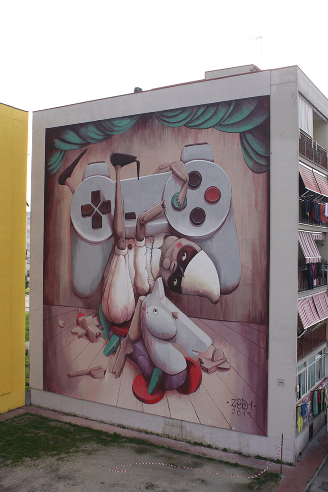 ZED1 - A' pazziella 'n man e' criature, Parco dei Murales, Ponticelli, Napoli