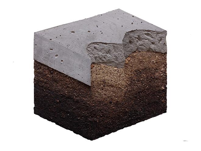Ciredz - SAMPLE, Cemento, Terra, Grafite, 53x53 cm