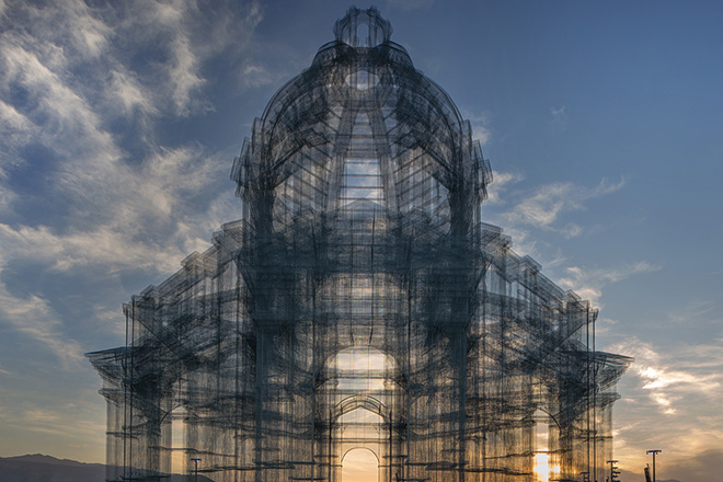 Edoardo Tresoldi - Etherea, site-specific installation, Coachella Valley Music and Arts Festival. photo credit: ©Roberto Conte