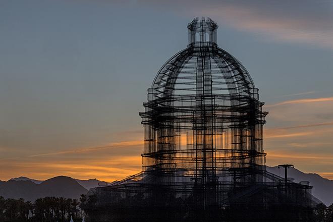 Edoardo Tresoldi - Etherea, site-specificinstallation, Coachella Valley Music and Arts Festival. photo credit: ©Roberto Conte