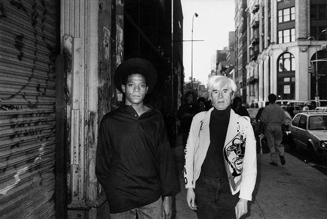 Ricky Powell - Basquiat e Warhol. photo credit: ©Ricky Powell