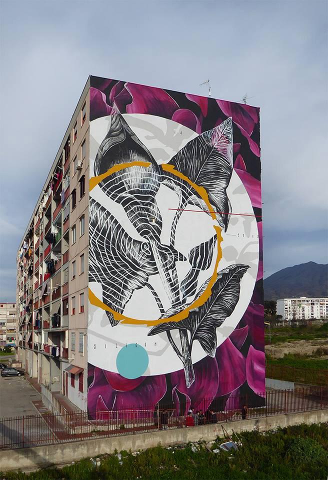 Fabio Petani - 'O sciore cchiù felice, Parco dei Murales, Ponticelli, Napoli est