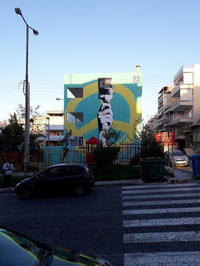 Riccardo Buonafede - EIRENE, Drapetsona, Atene, 2018 - Athens Street Art Festival