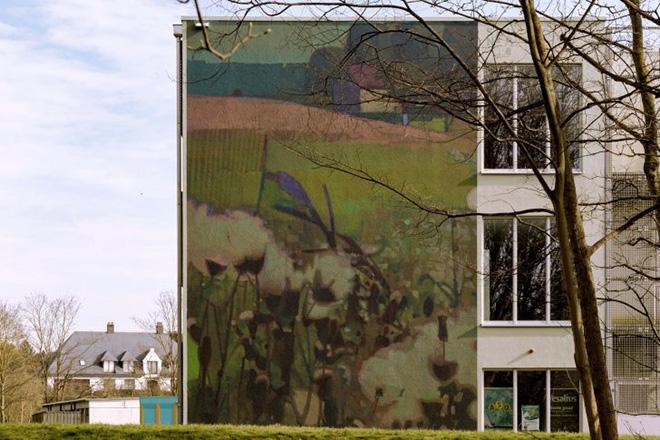 Sainer (Etam Cru) - The Crystal Ship, 2018, Ostend, School building HT. Leffingestraat 40. photo credit: ©Henrik Haven