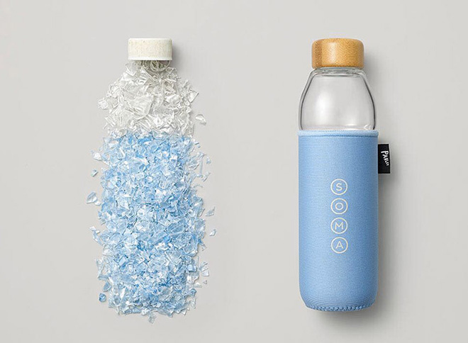 SOMA x Parley - Bottle with Ocean Plastic Sleeve