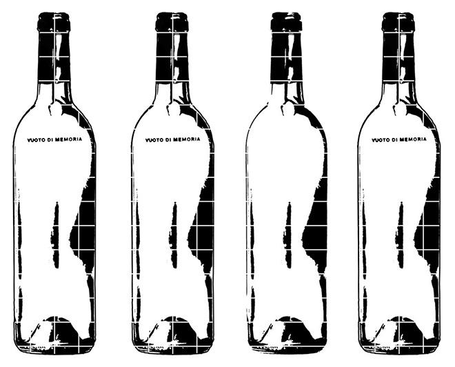 Vuoti di Memoria di Ugo Spagnuolo - Quattro bottiglie da 70 cm