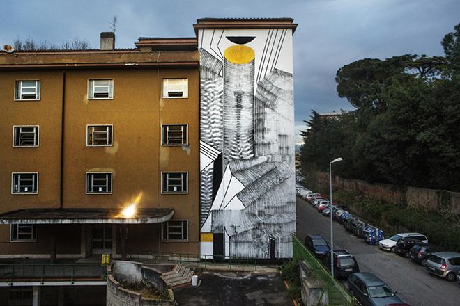2501 - Axonometry of the circle, Roma, 2015. photo credit: Giorgio Coen Cagli