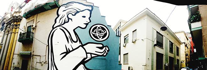 MP5 - Care of Knowledge, murale dedicato a Ipazia, Napoli, Quartieri Spagnoli, 2018