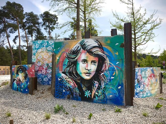 Alice Pasquini - White Rose, Raunheim (Germania), 2018