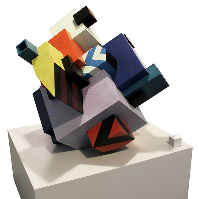 Etnik - Urban solid, sculpture in wood, 2015