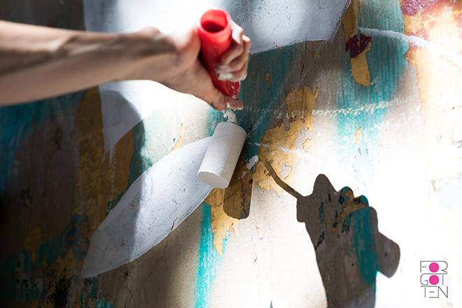Lucy McLauchlan - Murale per Forgotten Project, Campo Testaccio, Roma. photo credit: Stefano Corso