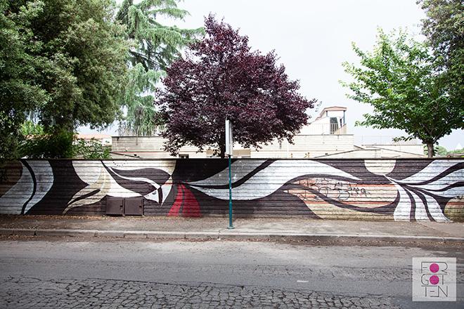 Lucy McLauchlan - Murale per Forgotten Project, Campo Testaccio, Roma. photo credit: Zaira Biagini