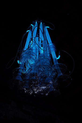 Richard Wheater - Sirens chandelier, 2012, Glass, argin, mercury, metal