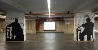 Vuoti di Memoria di Ugo Spagnuolo - Metro Porta Furba. photo credit: Domenico Campisano