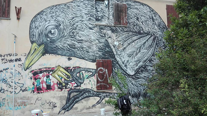 Andrea D'Ascanio - Muralì street art festival, Forlì, 2018