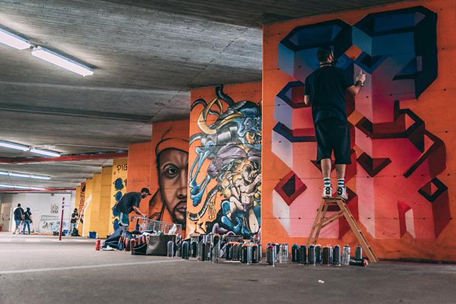 Barcaccia underground - Muralì street art festival, Forlì, 2018