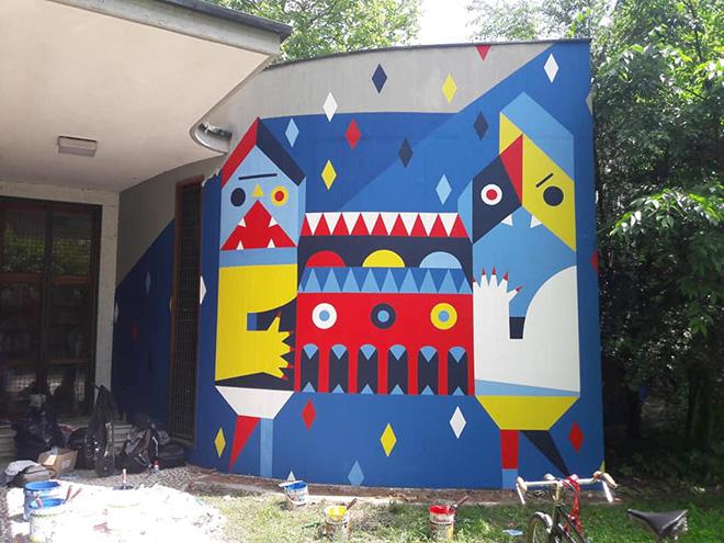 Camilla Falsini - Muralì street art festival, Forlì, 2018