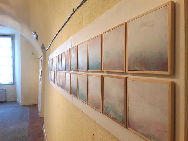 Daniele Bongiovanni - Natura con Deus, 2016, 15x15 cad., tecniche miste su tavola