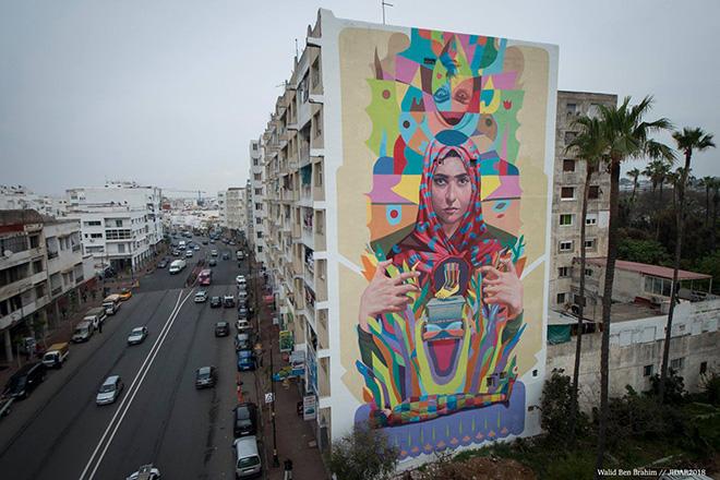 Jidar, Toiles de rue 2018 – La street art invade Rabat