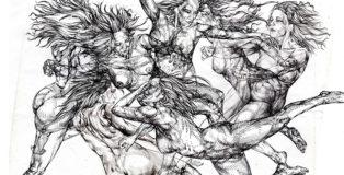 Giovanni Manzoni - Ricordi corposi mescolati, 170x230 cm, disegno su carta