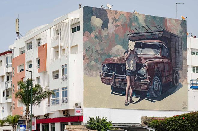 Milu Correch - Rabat, Jidar, Toiles de rue 2018. photo credit: Hamza Nuino