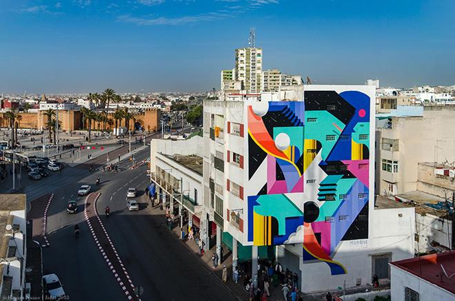 Murone - Rabat, Jidar, Toiles de rue 2018. photo credit: Hamza Nuino