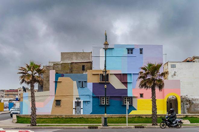 Nelio - Rabat, Jidar, Toiles de rue 2018. photo credit: Hamza Nuino