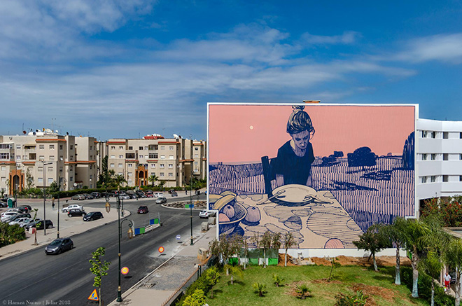Sainer - Rabat, Jidar, Toiles de rue 2018. photo credit: Hamza Nuino