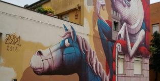 Zed1 - Muralì street art festival, Forlì, 2018