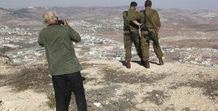 Josef Koudelka near Nablus - KOUDELKA Shooting Holy Land. Copyright: Gilad Baram