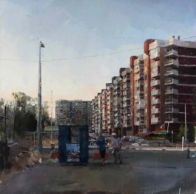 Sebas Velasco - Poz¦îar na periferiji grada, 120x120