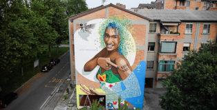 Alessio Bolognesi - #mariellepresente, murale a Ferrara, 2018