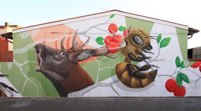 Alessio Bolognesi – Murale a San Gavino Monreale