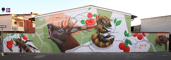 Alessio Bolognesi - Murale a San Gavino Monreale, Sardegna, Italy, 2018