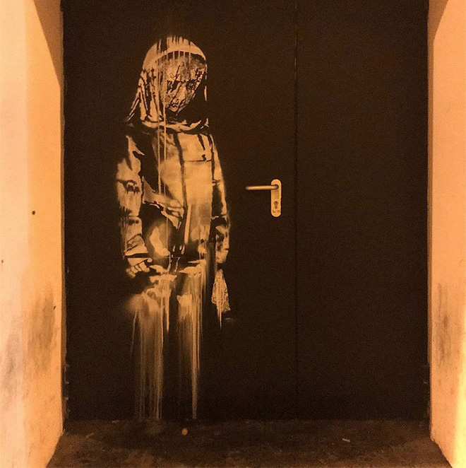 Banksy - Fire door, Bataclan, Paris