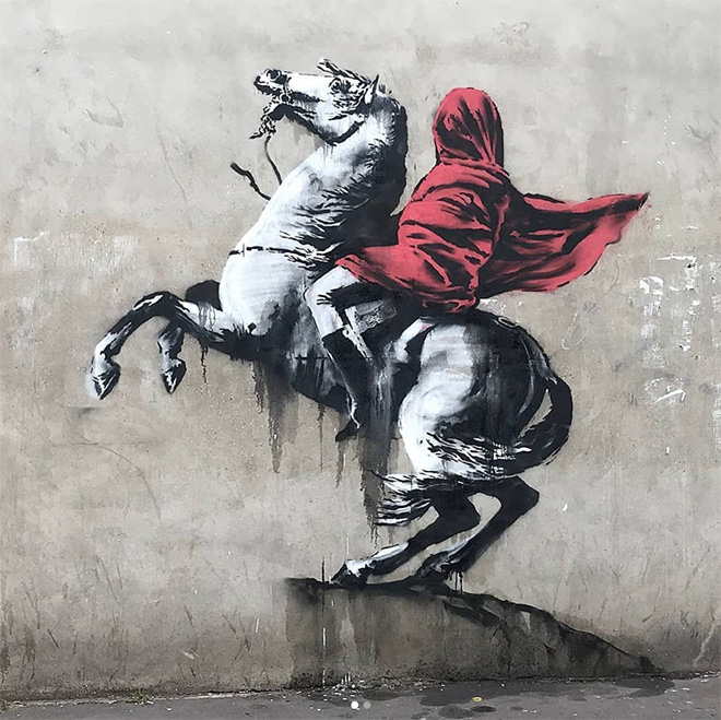 Banksy - mural in Rue de Flandres (XIX Arrondissement), Paris