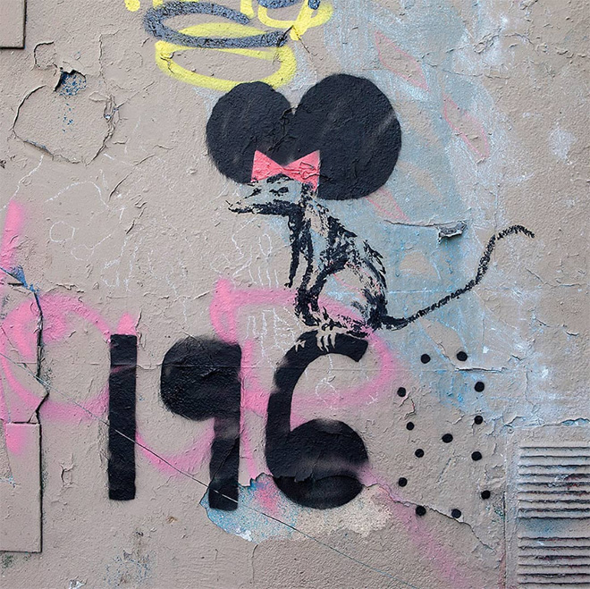 Banksy - Rat on 1968, Paris