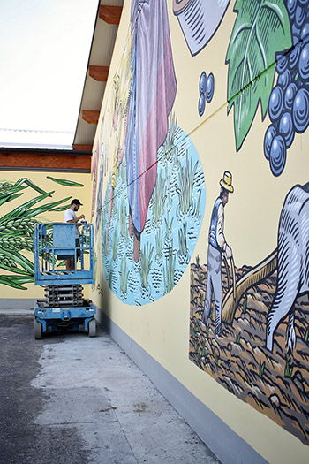 Lucamaleonte - Pastorale, murale a Rolo (RE), 2018