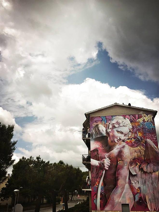 Pichi & Avo - Murale a Montecosaro (MC), 2018. photo credit: Anime di strada