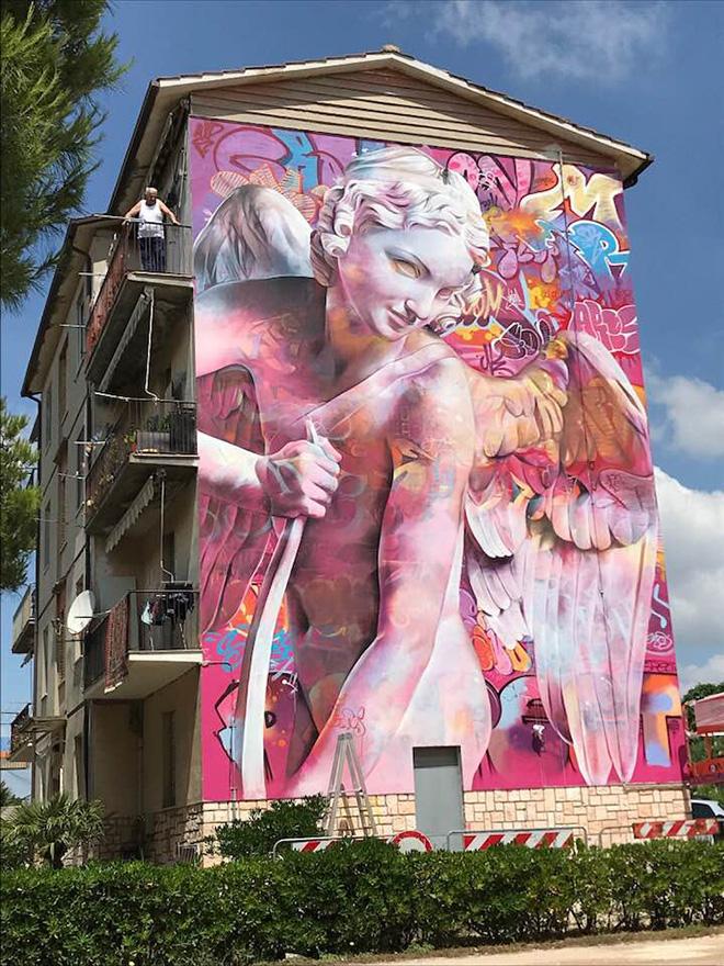 Pichi & Avo - Murale a Montecosaro (MC), 2018. photo credit: Stefano Ferretti