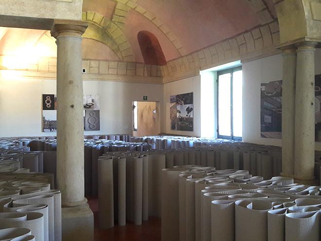 Michelangelo Pistoletto - Labirinto, 1968 - 2018, cartone ondulato