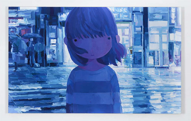 Shintaro Ohata - sayonara wo nokoshite (2018), acrylic on canvas, 89.4 x 145.5 cm. © OHATA Shintaro. courtesy of the artist, Mizuma Gallery, and YUKARI ART
