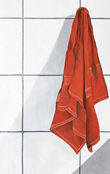 Chantal Criniti - Essenzialità domestica, 2018, olio su tela, 50x30 cm