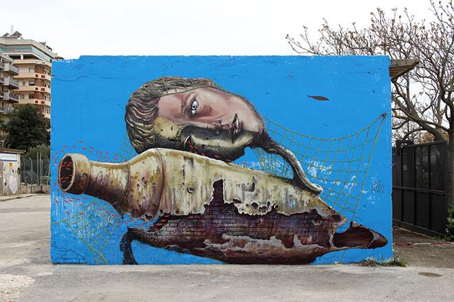 Alessandra Senso - Vedo a colori, street art nel porto di Civitanova Marche