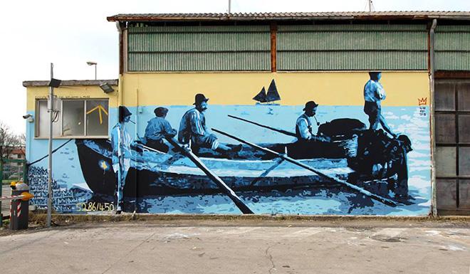 Biodpi - Dedicato a quelli che scelgono il mare, Vedo a colori, street art nel porto di Civitanova Marche