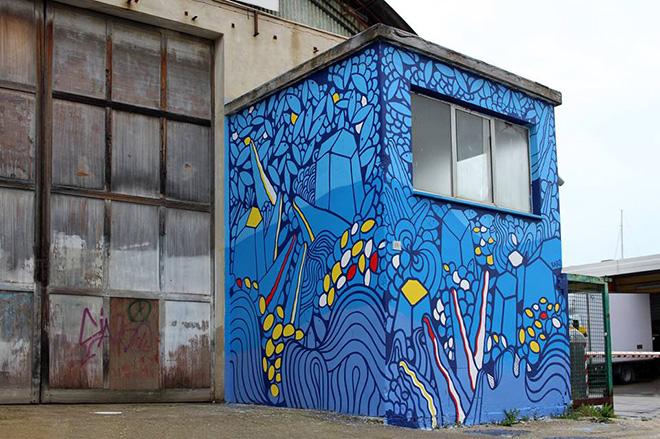 Gianluca Raro - Vedo a colori, street art nel porto di Civitanova Marche