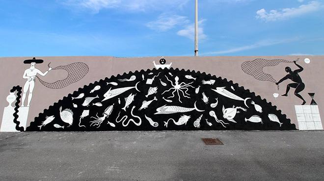 Andrè Guerrilla (Guerrilla Spam) - Vedo a colori, street art nel porto di Civitanova Marche
