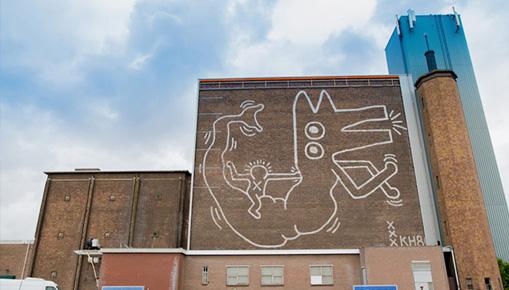 Keith Haring - Ad Amsterdam svelato un murale di 30 anni fa
