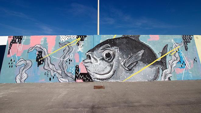 Reve+, Pesce Re, Vedo a colori, Street Art nel porto di Civitanova Marche